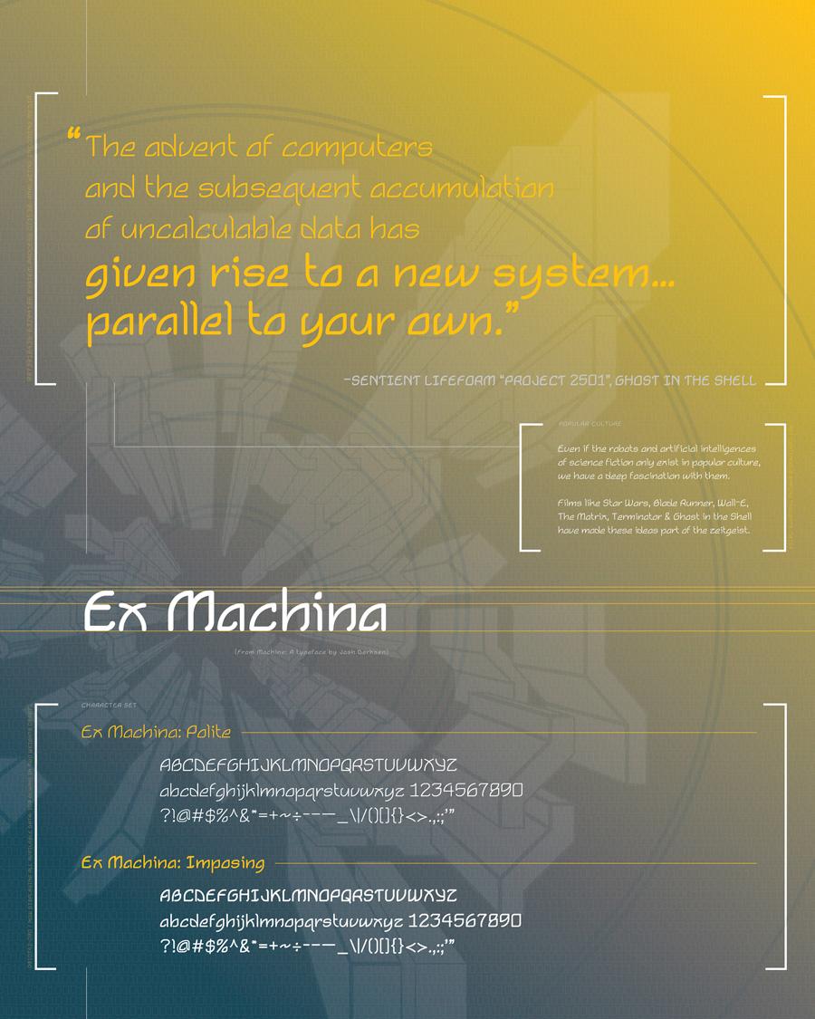 exMachina Typeface Poster